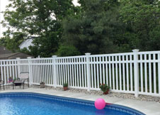 bel air 6' tall PVC pool fence