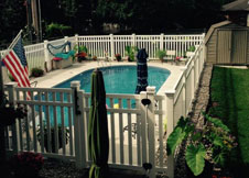 bel air 7' tall PVC pool fence
