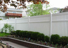 bel air semi privacy fence 8' tall PVC pool fence