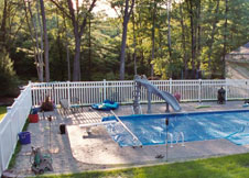 bel air 5' semi privacy fence PVC pool fence