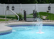 bel air 5' tall PVC pool fence