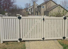 bel air 6' tall semi privacy fence PVC pool fence