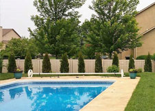 bel air 4' tall Bel Air Semi Privacy Fence PVC pool fence