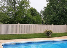 bel air 8' tall PVC pool fences