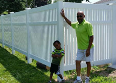 Bel Air Semi Privacy Fence White Pool Fences
