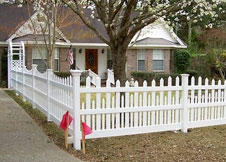 Denver vinyl picket fence