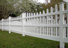 4' Tall tan Denver picket fence panel