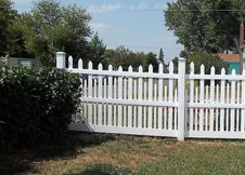 5' Tall white Denver picket fence