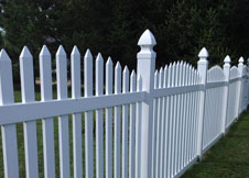 Olympia Arched Vinyl Picket Fence