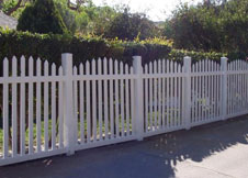 6'Arched Vinyl Picket Fence