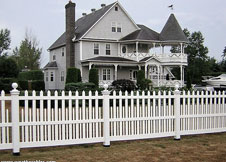 Providence vinyl picket fence