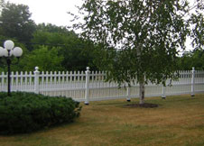 shasta white privacy fence