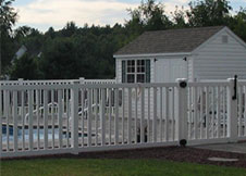 6' Tall seneca pool fence