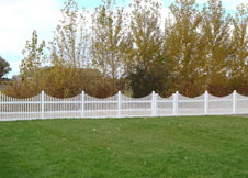 Sacramento tan vinyl picket fence