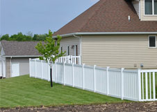 seneca vinyl pool fence 5' tall