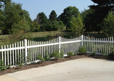 Sacramento white picket fence 4' talll
