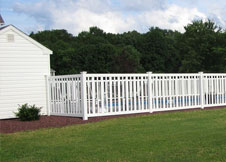 seneca white vinyl pool fence
