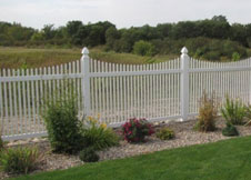 Sacramento vinyl picket fence