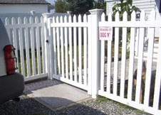 white privacy fence