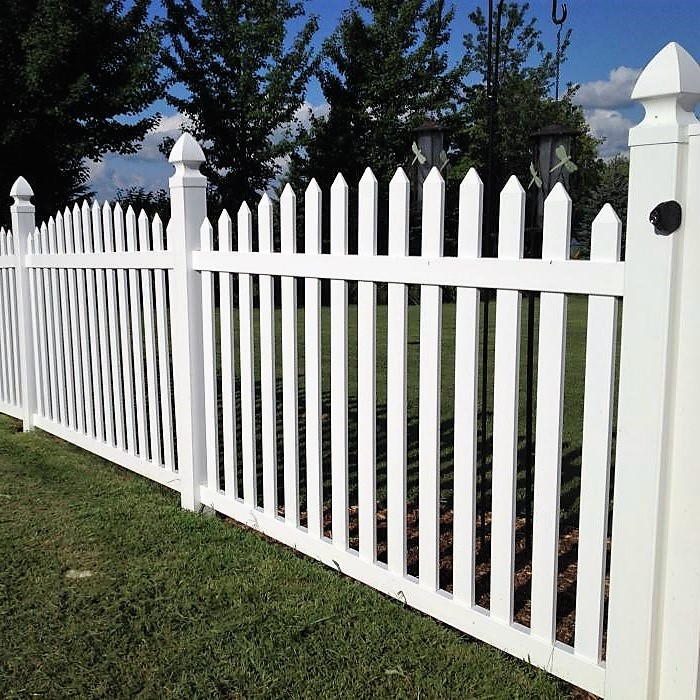 Olympia Picket Fence Arched Vinyl Picket Fence Factory