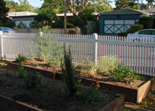 tan Trenton vinyl fence