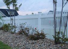 Trenton vinyl fence