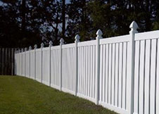 White Orlando pool fence 4' tall
