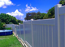 White Florida pool fence