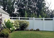 ohio white privacy fence