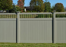ohio white privacy fence panel