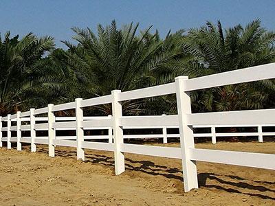 white vinyl horse fencing