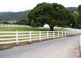 3 rail split rail fencing