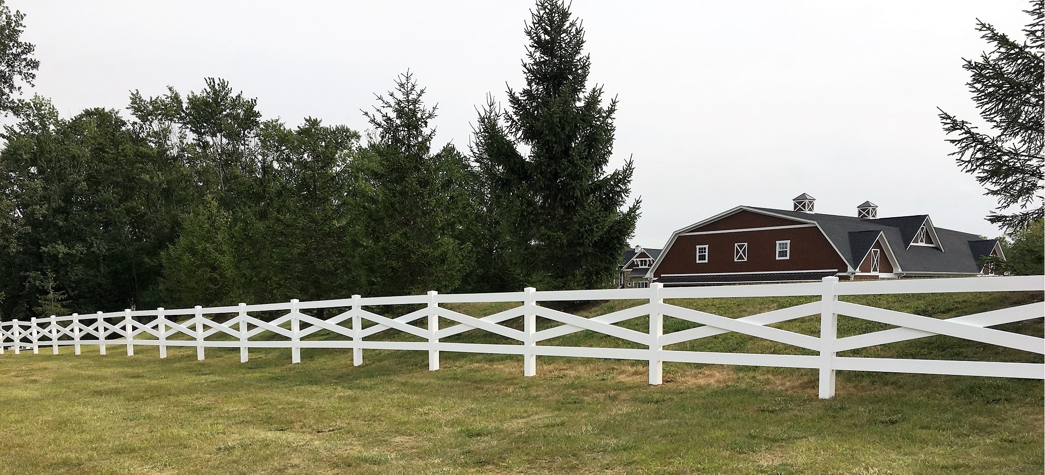 Vinyl Horse Fence, Vinyl Farm Fence, Post and Rail Fence - Fast Ship