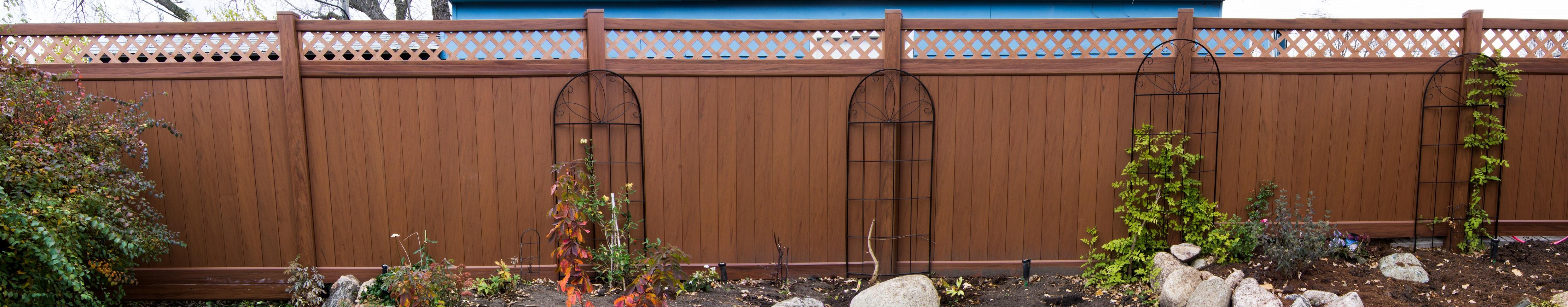 mocha walnut vinyl fence factory direct vinyl fence wholesaler