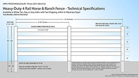 white split rail fencing