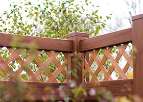 4 foot tall mocha walnut privacy fence