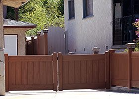 6 foot tall privacy fence mocha walnut