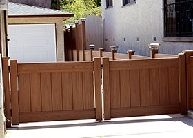 4 foot tall privacy fence mocha walnut