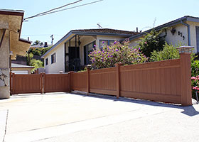 7 foot tall privacy fence mocha walnut