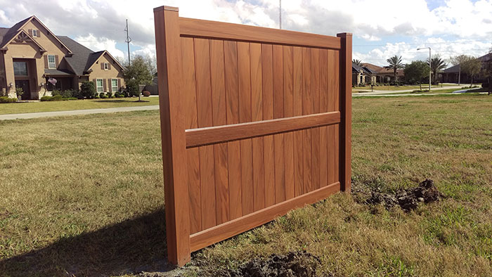 8 Foot Tall Wood Grain Privacy Fence