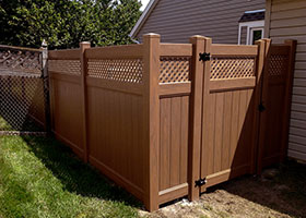 6' tall privacy fence mocha walnut