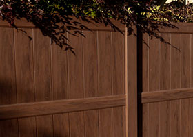 4' tall privacy fence mocha walnut