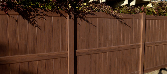 Vinyl Fence Colors 4u0027 Tall Privacy Fence Mocha Walnut Vinyl