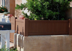 3' tall privacy fence mocha walnut