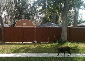 5' tall privacy fence mocha walnut