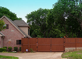 mocha walnut privacy fence vinyl
