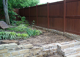 mocha walnut vinyl privacy fence