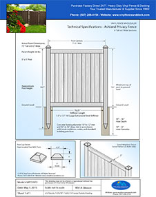 Ashland 6' Tall Privacy Fence