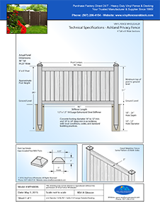 Ashland 4' Tall privacy fence