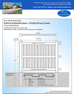 Florida privacy fence